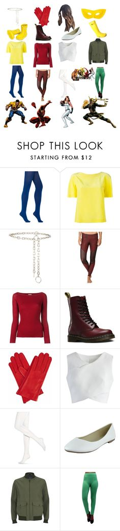 """""""the defender's"""" by rosieunicorn ❤ liked on Polyvore featuring Wolford, Alberta Ferretti, AMBUSH, Onzie, Nude, Dr. Martens, Gizelle Renee, Chicwish, Hue and Knutsford"""