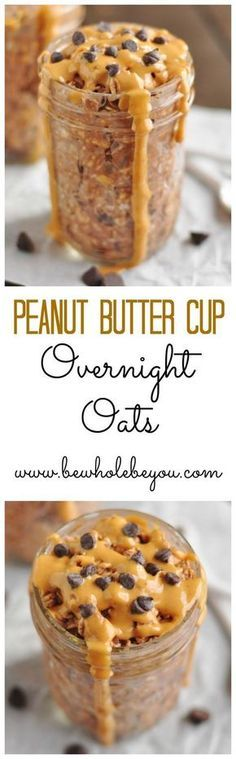 Peanut Butter Cup Overnight Oats. Be Whole. Be You. I will add 1 scoop of Vanilla IsaPro for some good protein