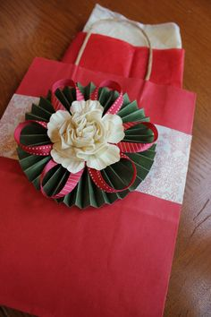 Holiday Gift Bag - Paper gift bag ready to go with tissue paperFrom EngineeringElegance