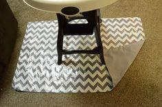 DIY splat mat. Mat for under your high chair, baby mess! Pitcher Family Adventures: Splat Mat