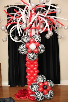 Balloon Column with Flower