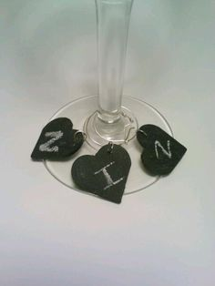 Wine Glass Charms, Chalkboard, Rustic Chic, Wedding Bridal Party, Heart, Gift tag, Wishing Tree SET OF 25. $50.00, via Etsy.