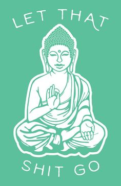 Bring the zen to your space with this Buddha print.