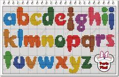 Darling Make Alphabet Friendship Bracelets Ideas. Wonderful Make Alphabet Friendship Bracelets Ideas. Embroidery Alphabet, Learn Embroidery, Embroidery Fonts, Cross Stitch Embroidery, Embroidery Patterns, Stitch Patterns, Beginner Embroidery, Christmas Alphabet, Cross Stitch Letters