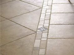 Separate Two Styles Of Tile With A Decorative Line Of Tile That Would  Combine Both Styles