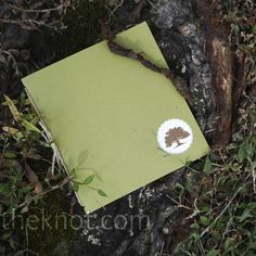 The program booklets were green cardstock, marked with their oak tree logo and printed on ivory linen paper.