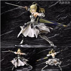 59.65$  Watch here - http://aliuec.worldwells.pw/go.php?t=32693670035 - chrismas gift Fate stay night Saber Lily The Holy Grail War Fate/zero Saber cool action figure toys 18-23cm 59.65$