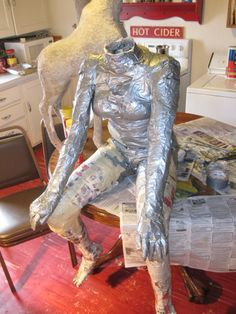 Michael Jacobson, in response to Hannah's questions about making a figure sculpture our of paper mache.
