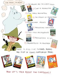 """""""I am new to the Moomins. Where do I start? I tried to do a mini moomin guide and I hope it will be usefull. Moomin Valley, Tove Jansson, Winter's Tale, Wow Art, Cartoon Shows, Little My, Drawing Reference, Cute Art, Nerd"""