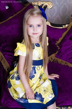 Anastasia Orub (born May Russian child model. Preteen Fashion, Baby Girl Fashion, Kids Fashion, Cute Girl Outfits, Little Girl Dresses, Flower Girl Dresses, Cute Young Girl, Cute Baby Girl, Child Models