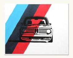 Items op Etsy die op Oldtimer Print - BMW 2002 Turbo - Duitse kleuren lijken