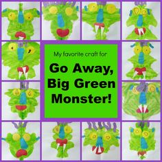 This is a graphic of Impeccable Go Away Big Green Monster Printable Book