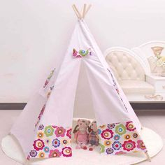 Cheap play tent children Buy Quality tent children directly from China kids play tent Suppliers Cotton teepee kid tent fabric houses to play kids play ...  sc 1 st  Pinterest & READY TO SHIP Teepee Play Tent- poles included pink and white ...
