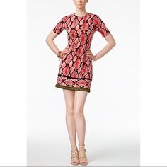 Michael Kors Snakeembossed Sheath Dress