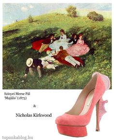 Painting by Szinyei Merse Pál. shoes by Nicholas Kirkwood