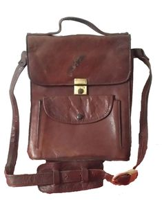 669aa1429d94 Men Bag Leather Messenger Crossbody Shoulder Satchel Laptop Travel  Briefcase  fashion  clothing  shoes