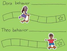 We started using a behavior chart about a year and a half ago. The first version was a great success, that lasted just over a year. Behavior Chart Preschool, Home Behavior Charts, Classroom Behavior Chart, Student Behavior, Behaviour Chart, Kids Behavior, Preschool Learning, Learning Activities, Teaching
