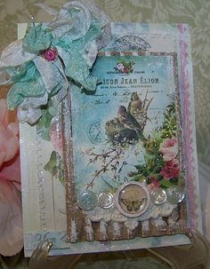 Mothers Day Card Handmade All Occasion Card for Mom Vintage