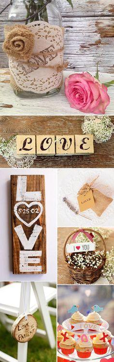 Decoracion de bodas con mucho LOVE