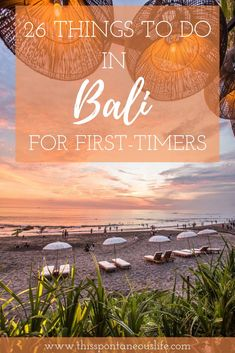 26 Things to do in Bali for first-timers: The Ultimate Guide Here is the ultimate guide on things to do in Bali for the first time. Bali travel tips Bali Travel Guide, Asia Travel, Travel Tips, Travel Guides, Beautiful Places To Visit, Cool Places To Visit, Places To Go, Bali Things To Do In, Best Places To Travel