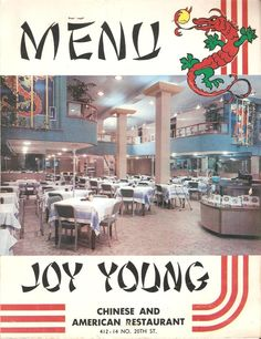Joy Young's in Downtown Birmingham - Menu from 1965, this place was the greatest!  My family love it:-)