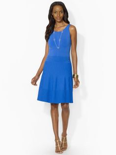 Pintucked Sleeveless Dress - Short Dresses  Dresses - RalphLauren.com