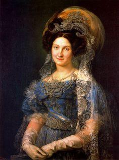 d738b8216 Retrato Reina Maria Cristina - Vicente Lopez Mujeres En El Arte