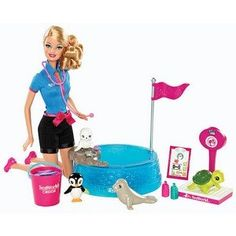 Fashion Doll: Barbie I Can Be  Sea World Baby Animal Rescuer Playset -- You can find more details by visiting the image link.