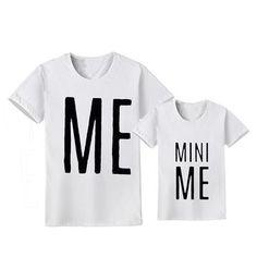 Mini Me Daddy & Me T-Shirts – Cece Match Matching Family Outfits, Matching Shirts, My Daddy, Mini Me, My T Shirt, Super Cute, Clothes, Tops, Women