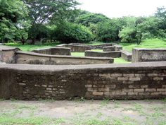 Only the foundations remained for many buildings. The foundations form a very interesting pattern on photo. The ruins look also like a maze. Leon Viejo is the only World Heritage Site in Nicaragua at time of visit and is well worth a visit with a kno