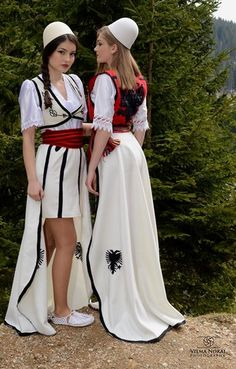 Traditional Albanian Costumes - Traditional Clothing of Albanians Photo - Fanpop Albanian Tattoo, Albanian People, Albanian Wedding, Albanian Culture, Everyday Casual Outfits, Folk Clothing, Fashion Design Sketches, Folk Costume, Simple Dresses