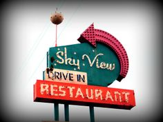 Oh how I miss this old place!!! The Sky View Restaurant sign in Florence, SC with it's Sputnik ball on top. I know the old sign has found a new home recently, but I still miss the old place.