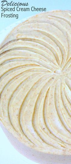 Cream Cheese Frosting DELICIOUS Spiced Cream Cheese Frosting Recipe by ! Pipes beautifully and wonderfully flavorful.DELICIOUS Spiced Cream Cheese Frosting Recipe by ! Pipes beautifully and wonderfully flavorful. Köstliche Desserts, Delicious Desserts, Dessert Recipes, Spice Cake Recipes, Pie Dessert, Keto Recipes, Cooking Recipes, Keto Cookies, Cupcake Frosting
