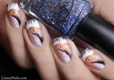 Nail Art - Plume