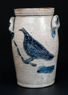 Exceptional Miniature Stoneware Churn w/ Detailed : Lot 98