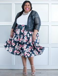 Plus Size Midi Skirt Outfit. So chic.