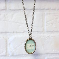 """This Girl's Life: {DIY """"one little word"""" pendant}"""
