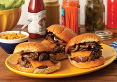 PHILLY-STYLE CHEESEBURGERS - Prevention.com
