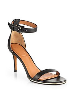Back to #black - #Givenchy Leather Ankle Strap Sandals