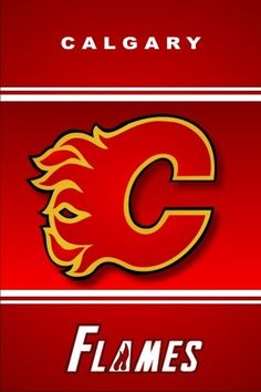 The Calgary Flames came to visit me in the hospital when I was really sick. They brought it a huge teddy bear, and gave me a poster they had signed. Flames Hockey, Ice Hockey Teams, Hockey Stuff, Flame Picture, Johnny Gaudreau, Hockey Cards, Hockey Sayings, Sports Logo, Sports Teams