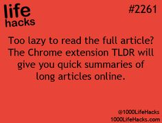 Get a quick summary of long articles online.