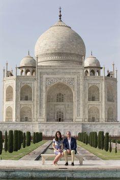 Kate and William at the Taj Mahal. April 2016