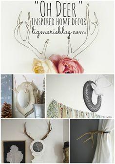 Deer inspired home decor - lovely inspiration to bring deer & antler inspired home decor into your home.