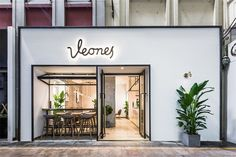 Tea shop on Behance Cafe Shop Design, Coffee Shop Interior Design, Small Cafe Design, Shop Front Design, Store Design, Design Café, Facade Design, Deco Restaurant, Restaurant Design