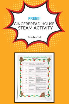 How to incorporate Common Core math standards into a gingerbread house STEAM project! Math Teacher, Teaching Math, Kindergarten Christmas, Common Core Math Standards, Math Projects, Steam Activities, Math Resources, Kids Playing, Gingerbread
