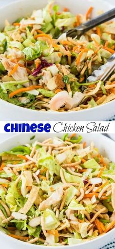 Chinese Chicken Salad – a quick and easy rotisserie chicken salad with an Asian dressing and lots of crunchy delicious mix-ins! Chinese Chicken Salad – a quick and easy rotisserie chicken salad with an Asian dressing and lots of crunchy delicious mix-ins! Rotisserie Chicken Salad, Asian Chicken Salads, Chicken Salad Recipes, Salad Chicken, Chinese Chicken Salad Dressing, Asian Salads, Keto Chicken, Crunchy Asian Salad, Chicken Fajitas