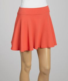 Love this Coral A-Line Skirt on #zulily! #zulilyfinds