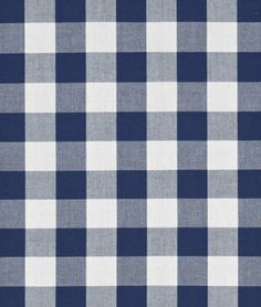 "Robert Kaufman 1"" Navy Blue Carolina Gingham Fabric - $6.95 