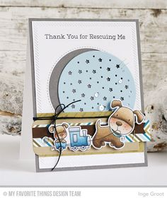 Playful Pups Stamp Set and Die-namics, Starry Circle Die-namics, Inside & Out Stitched Circle STAX Die-namics, Inside & Out Diagonal Stitch Rectangle STAX Die-namics - Inge Groot  #mftstamps