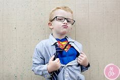 For Halloween photos find a location that goes along with the costume -- Superman = grungy urban alley!